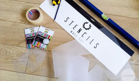 Plakatuffka szablon malarski stencils i narzędzia