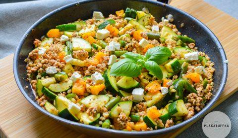 kaszotto z cielęciną i warzywami (